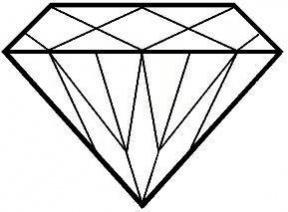 Diamond Shape Clipart Black And White.