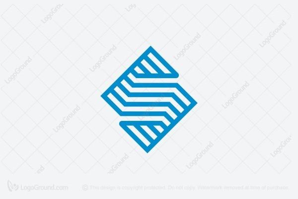 Exclusive Logo 78834, Diamond Shaped Letter S Logo.