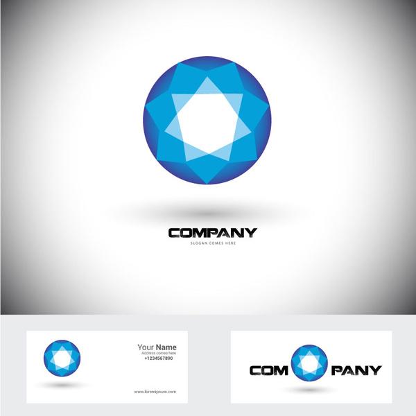 Corporation logo design with diamond shape illustration Free.