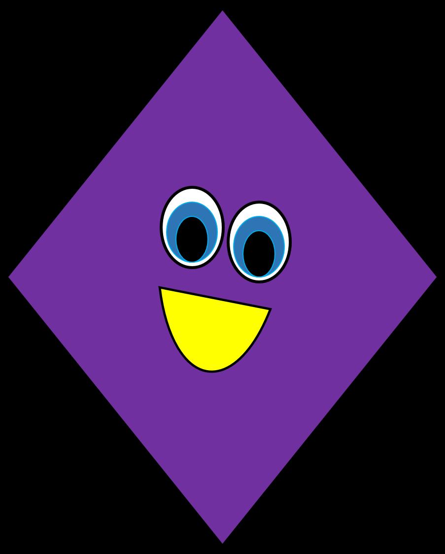Clipart kite diamond shaped object, Clipart kite diamond.
