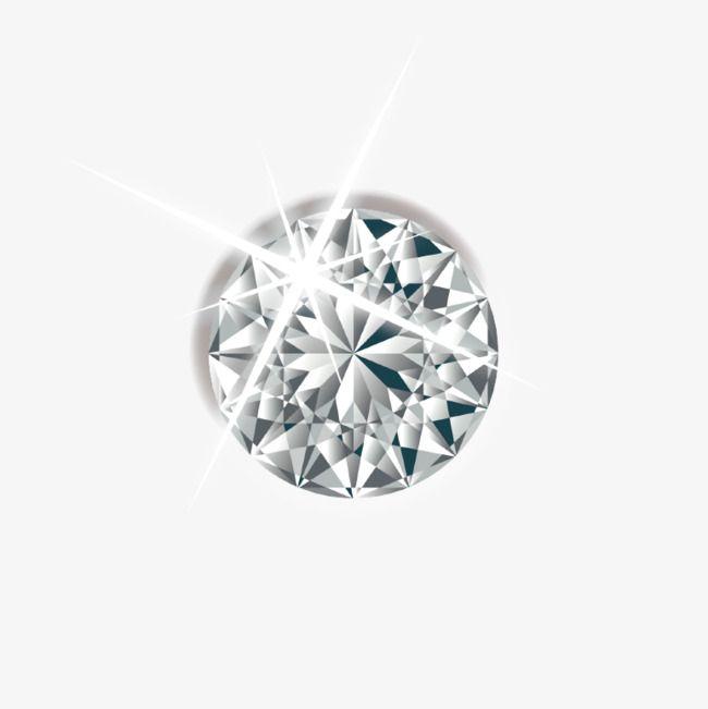 Vector Painted Diamond Stud Earrings, Vector, Hand Painted.