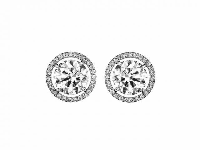 Diamond Earrings Clipart.