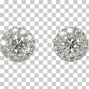 111 diamond Stud Earrings PNG cliparts for free download.
