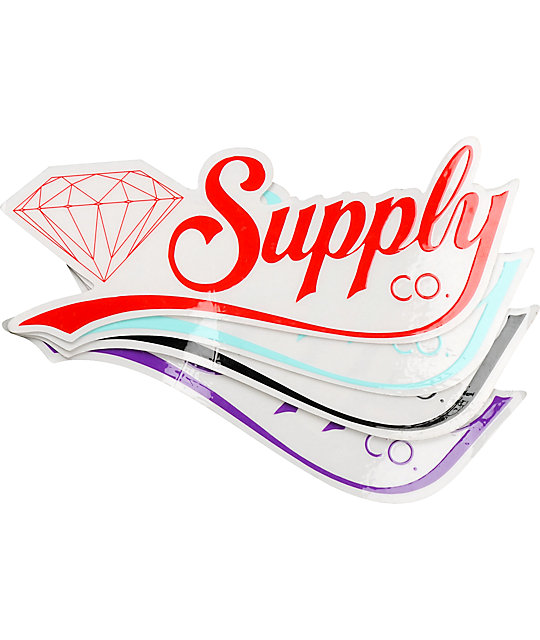 Diamond Supply Co Diamondaire Vinyl Sticker at Zumiez : PDP.