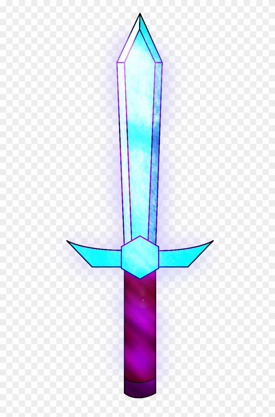 Minecraft Enchanted Diamond Sword Clipart (#1453598.