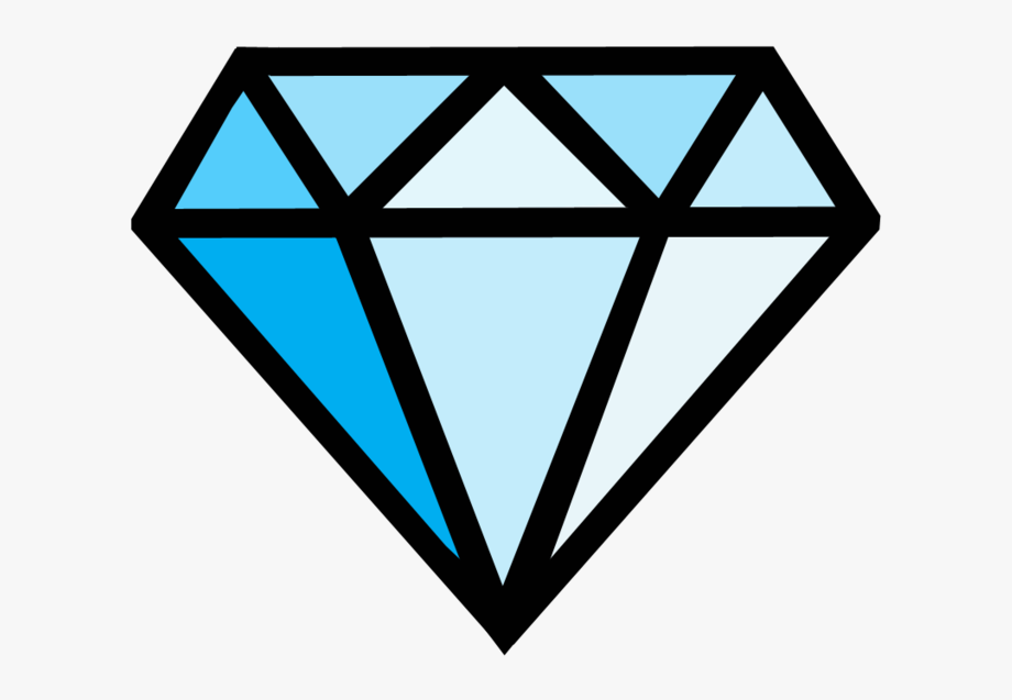 Diamonds Clipart Coloring Page.