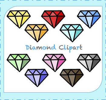 Diamond Clipart / Jewelry Clipart / Gemstone Clipart.