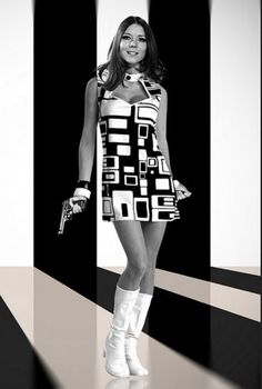 m. Diana Rigg as the gorgeous Emma Peel.