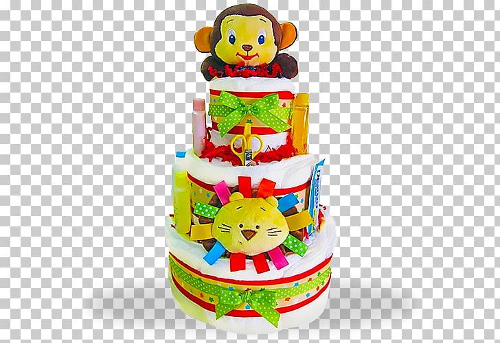 Diaper Cake Infant Cake decorating, Sale Flyer Set PNG.