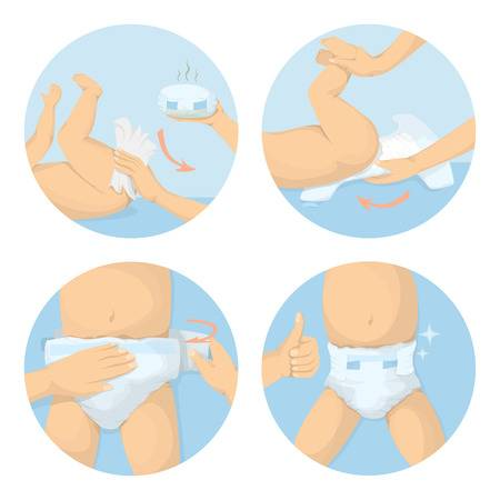 979 Diaper Change Stock Vector Illustration And Royalty Free Diaper.
