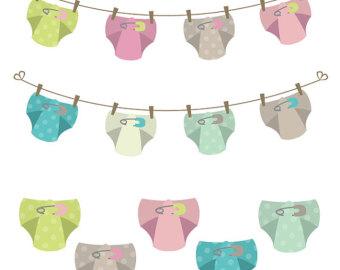Cloth diaper clipart.