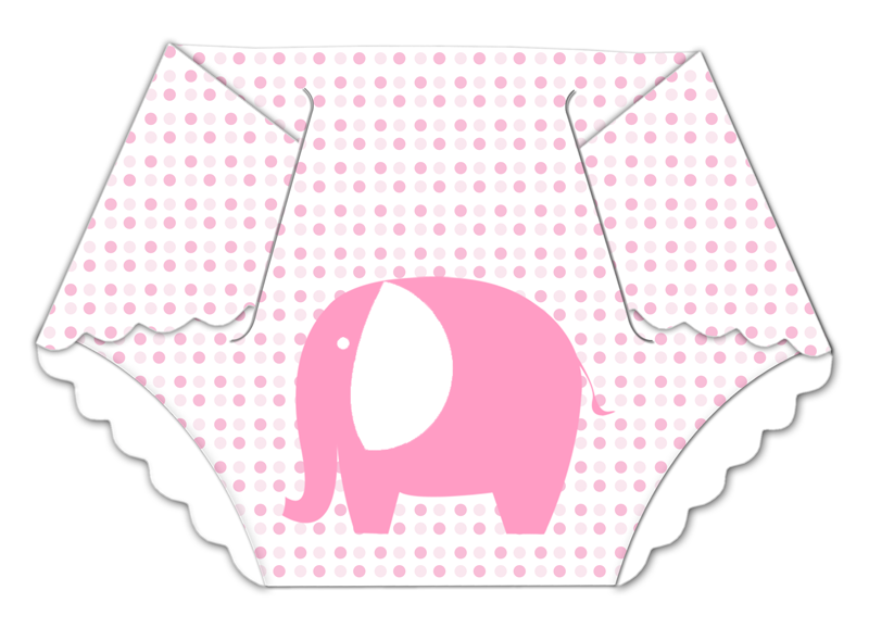 Pink baby diaper clipart.
