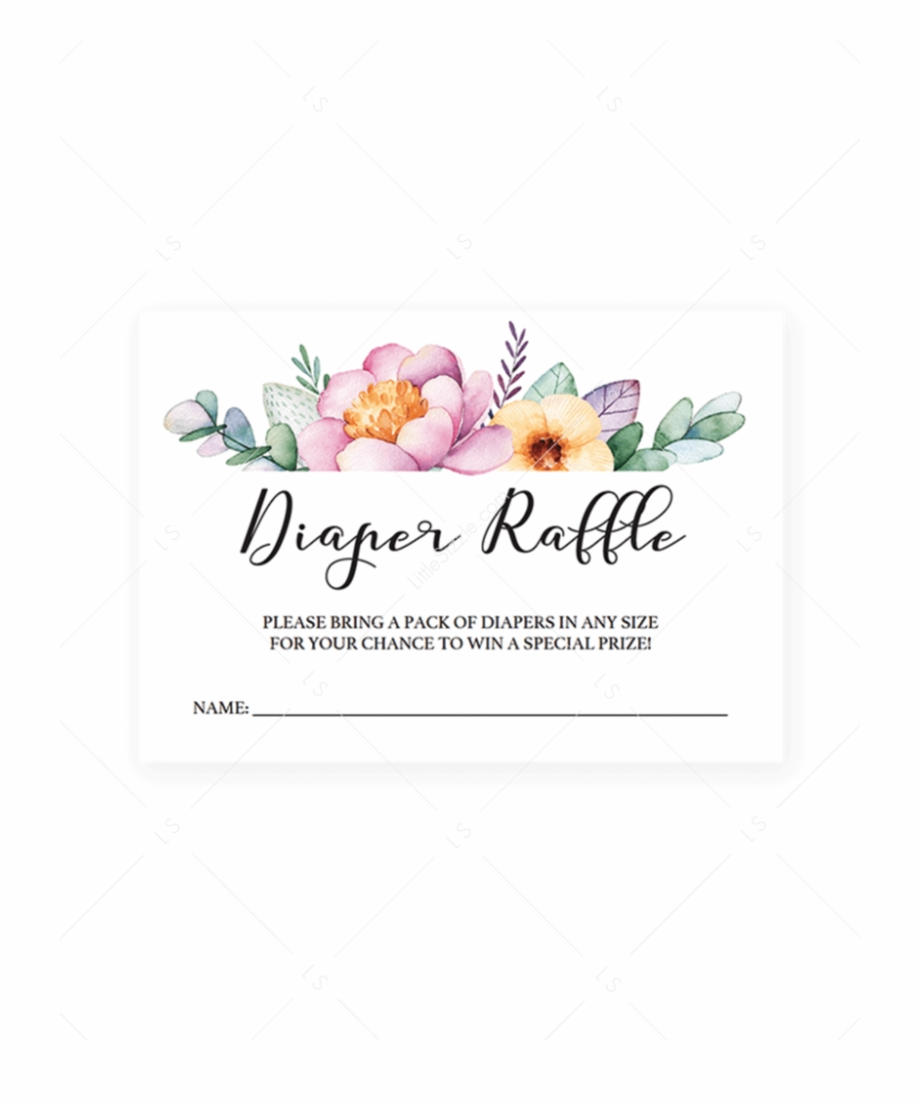 Free Printable Floral Diaper Raffle Tickets Free PNG Images.