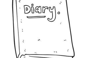 Diary clipart black and white 2 » Clipart Portal.