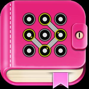 Secret diary with lock.