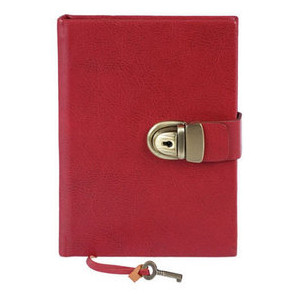Kate's Paperie : Shop : Italian Leather Diary with Lock : E0.