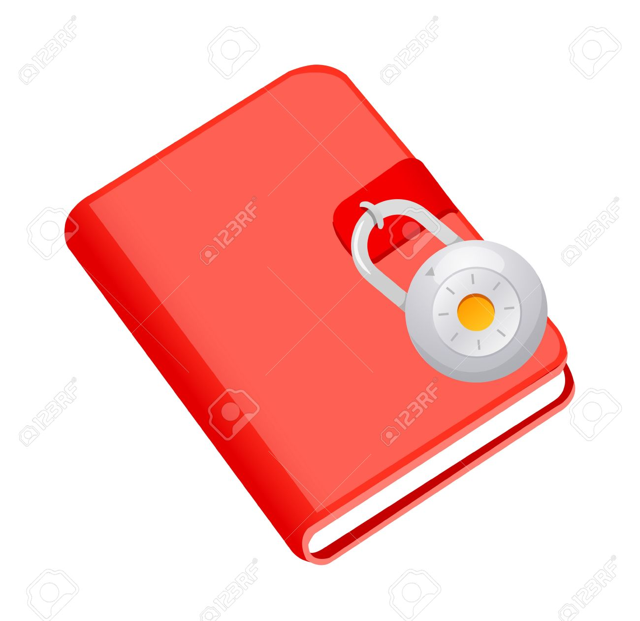 Icon Diary And Lock Royalty Free Cliparts, Vectors, And Stock.