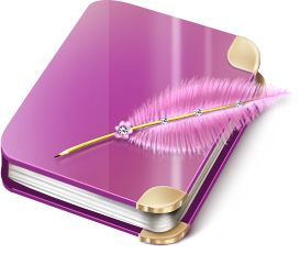 Diary, notebook icon.