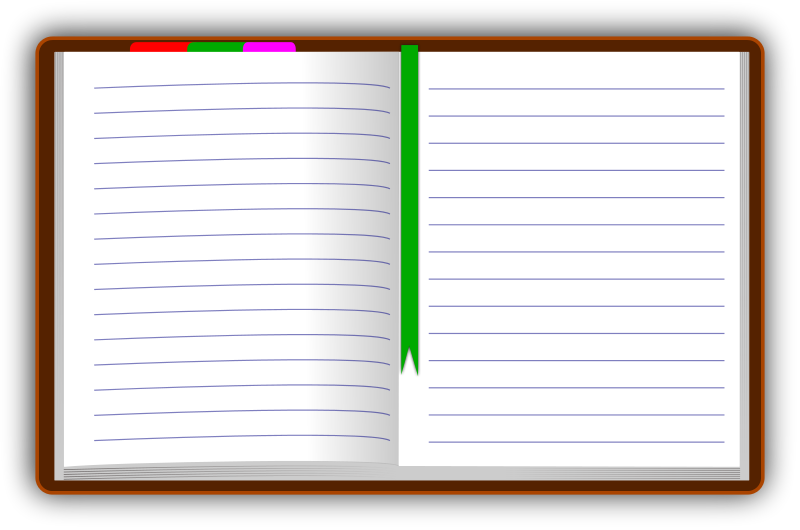 diary open blank.