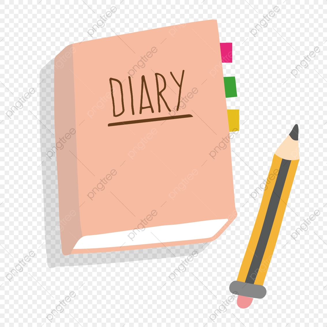 Vector Diary And Pen, Vector, Journal, Pen PNG and Vector with.
