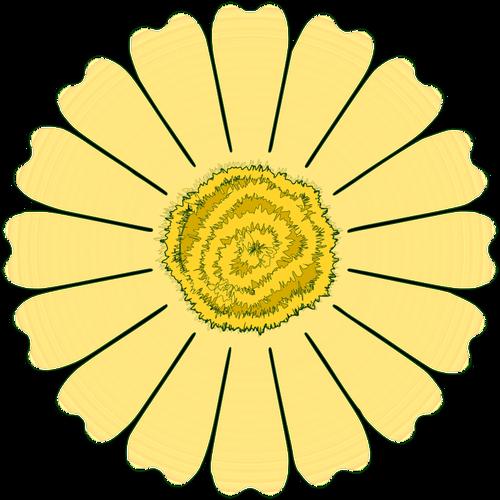 2728 pink daisy flower clip art.