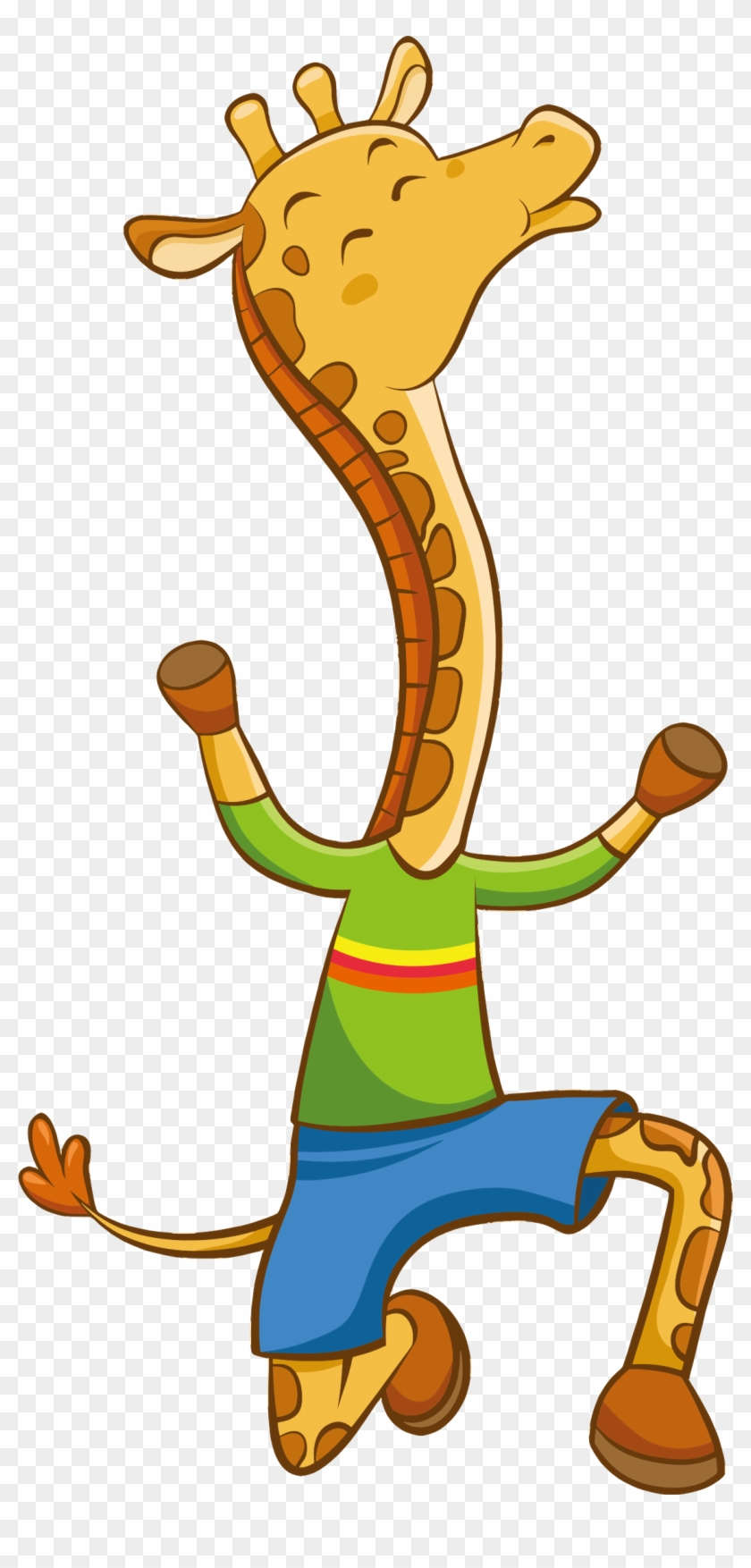Clipart Cartoon Giraffe Png.