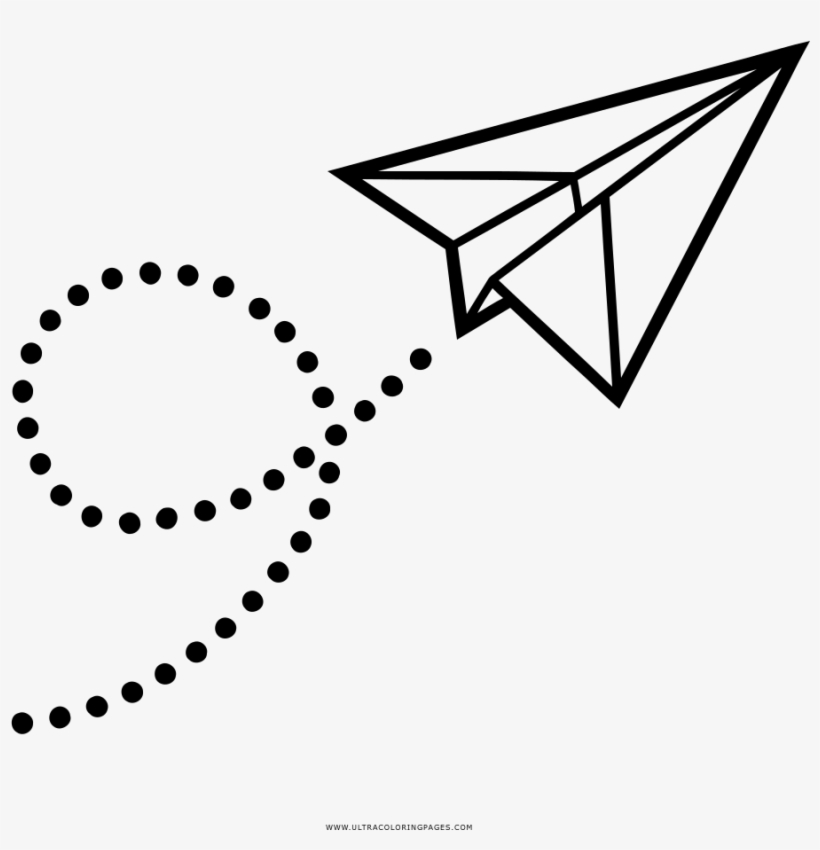 Avion De Papel Dibujo Png.