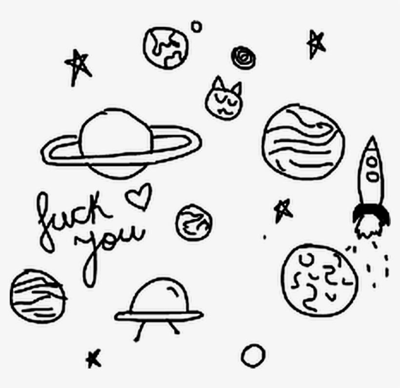 Planets Galaxy Tumblr Black&white Blackandwhite.