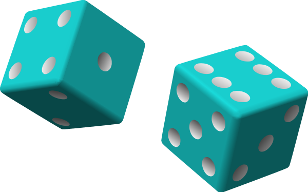 Bunco Dice Clipart.