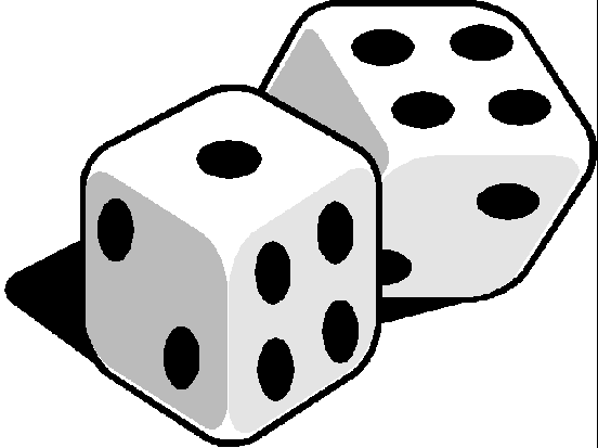 Dice game clipart.