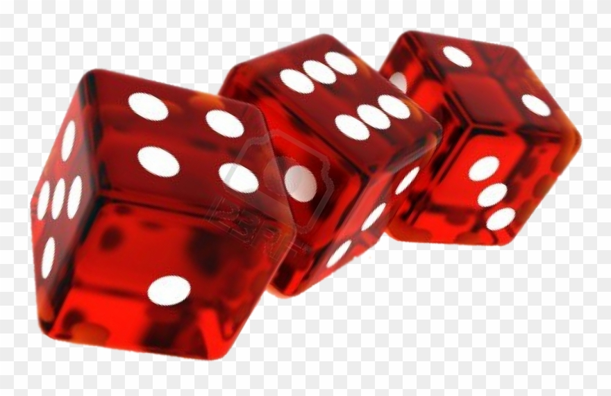Transparent Red Dice 8 Sided.
