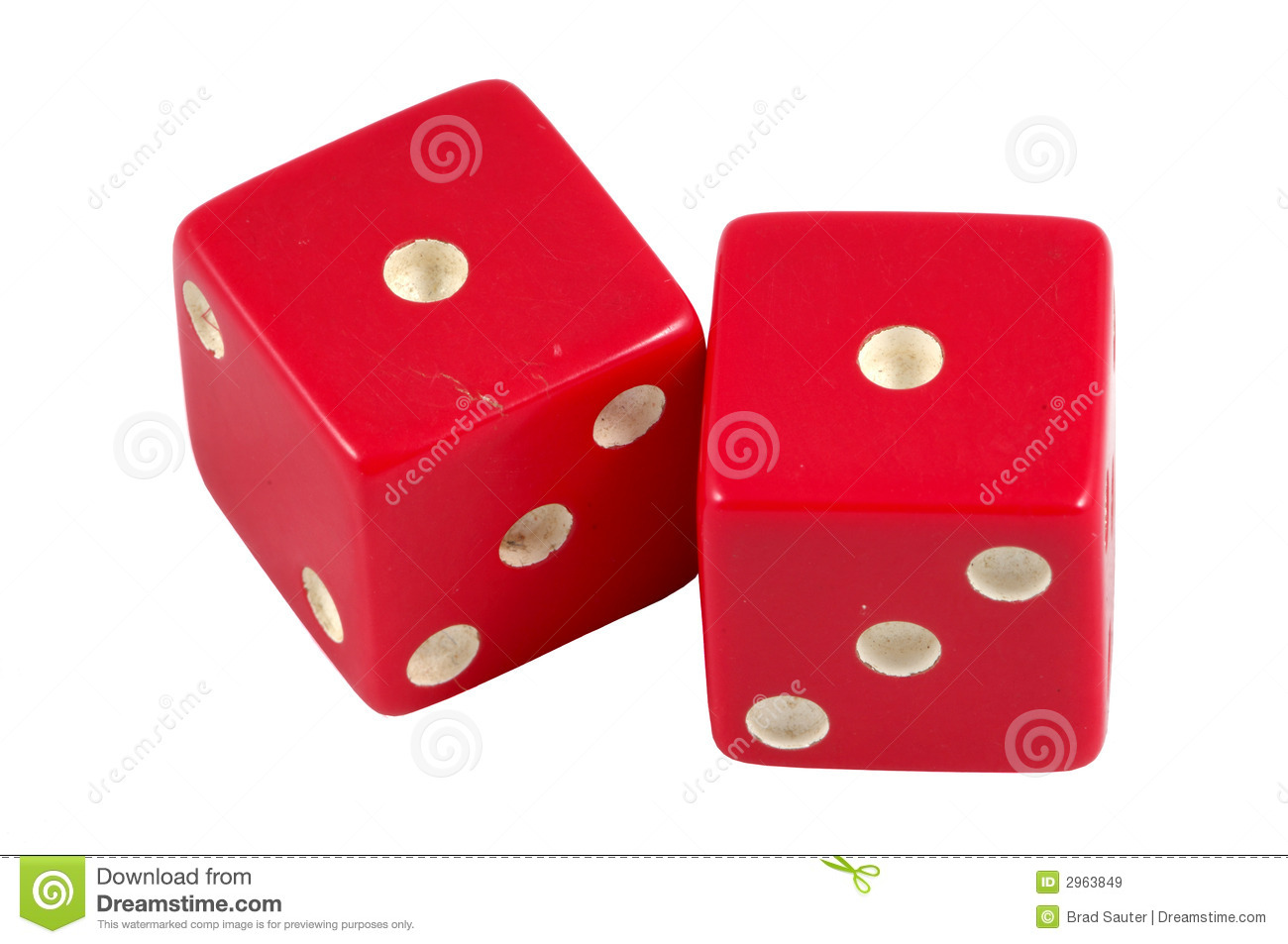 Snake Eyes Dice Royalty Free Stock Images.