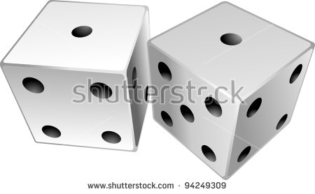 Dice Snake Eyes Stock Images, Royalty.