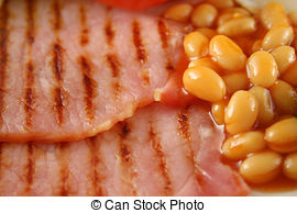 Stock Images of Baked Beans And Bacon.