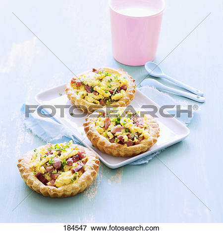 Picture of Scrambled egg and diced bacon tartlets 184547.