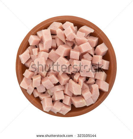 Diced Ham Stock Photos, Royalty.