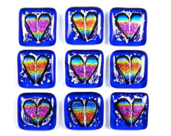 Pet Memorial Pendant Dichroic Glass Cremation by HaydenBrook.