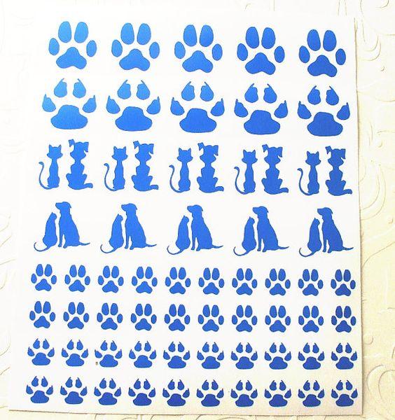 Dichroic Fused Glass Etching Stencils Vinyl by WhiteSandsGlass.