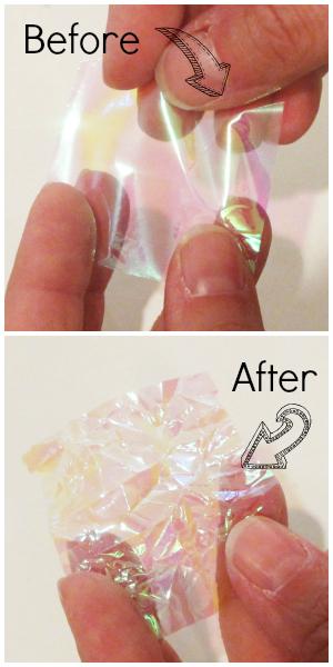 Dichroic glass lookalike resin pendant tutorial.