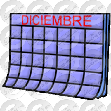 Diciembre Picture for Classroom / Therapy Use.