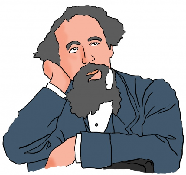 Charles Dickens Clipart Free Stock Photo.