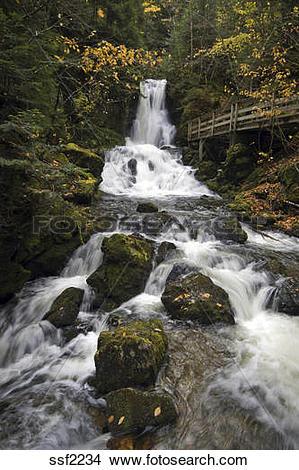 Stock Photo of Beautiful Dickson Falls, Fundy National Park, New.