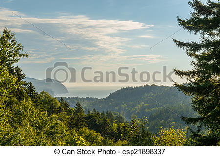 Stock Photos of Beautiful view Fundy Shore scenery from Dickson.