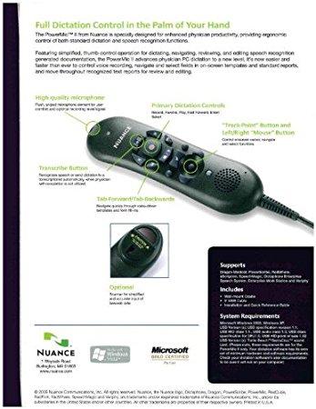 Amazon.com : Nuance Dictaphone PowerMic II (44365) : Electronics.
