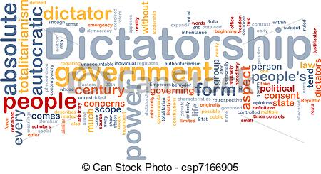 Stock Illustrations of Dictatorship background concept.