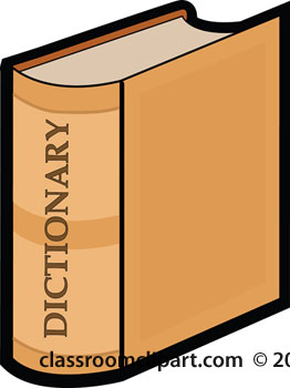 Dictionary Clip Art Page 1.