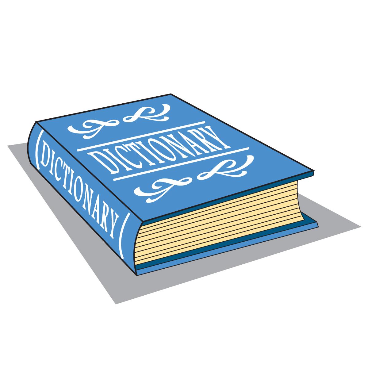 Dictionary clip art free.