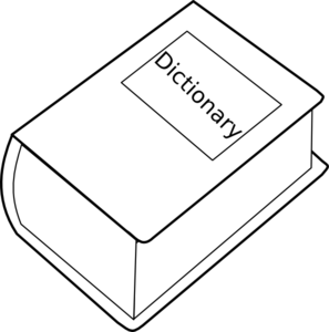 Dictionary Clipart Black And White.