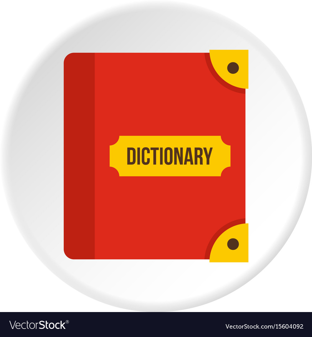 Book dictionary icon circle.