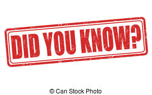 Did you know Clip Art and Stock Illustrations. 169 Did you know.